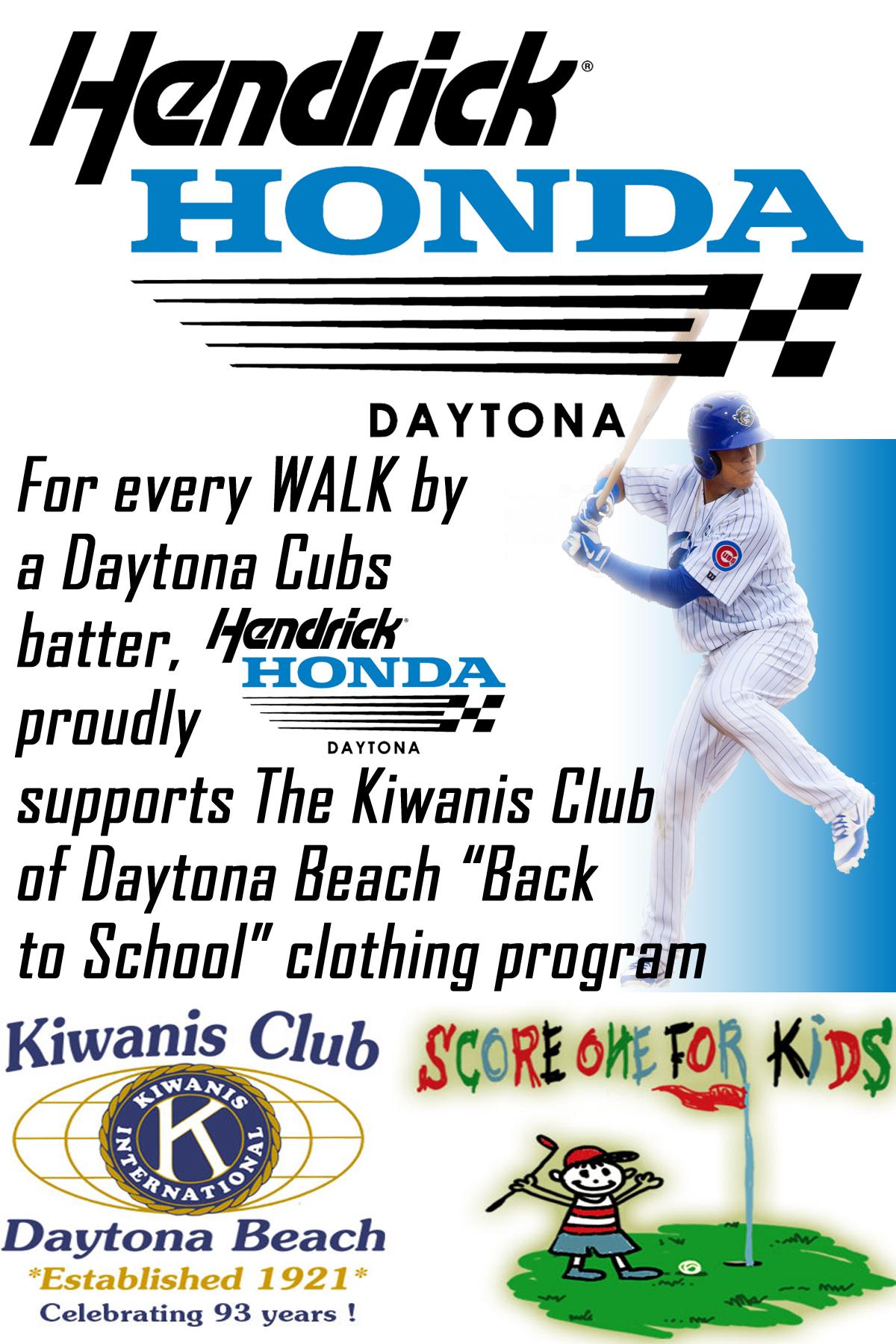 Kiwanis club of daytona beach for Hendrick honda daytona